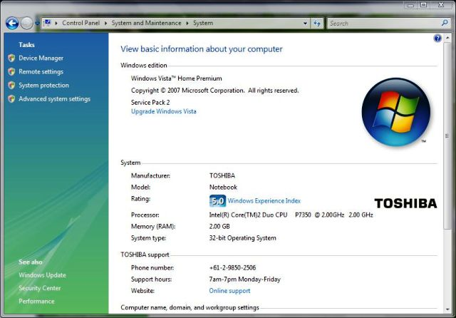 windows vista sp2 service pack 2 installed goldcoaster