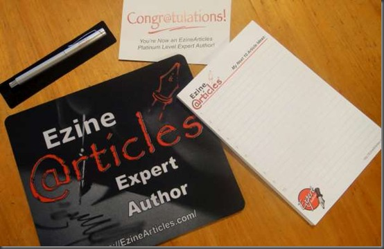 how many articles you need to write for platinum level expert author at ezinearticles