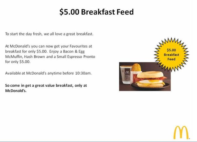 australian mcdonalds new meal deal breakfast
