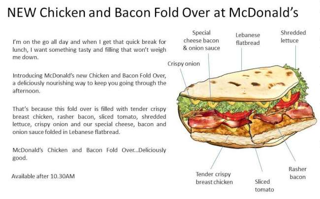 mcdonalds australia chicken bacon foldover