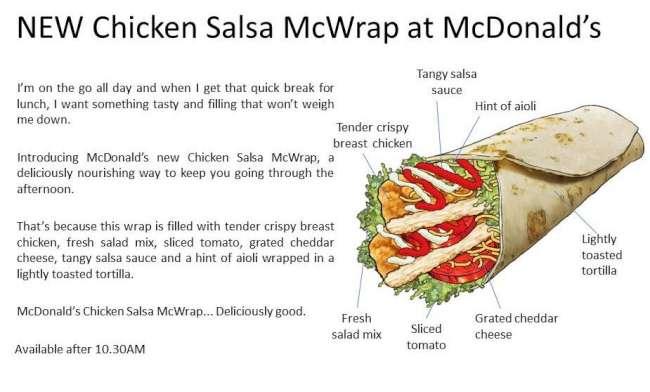 mcdonalds australia chicken salsa mcwrap