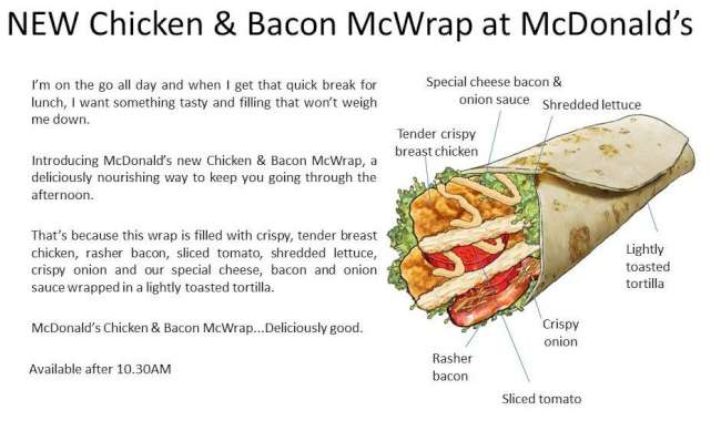 mcdonalds australia new chicken bacon mcwrap